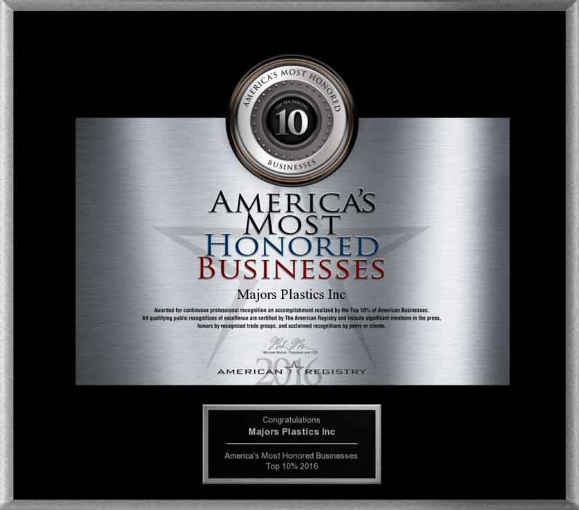Top 10% Most Honored Businesses